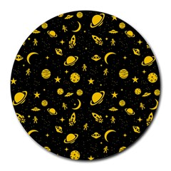 Space Pattern Round Mousepads by ValentinaDesign