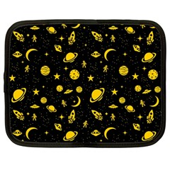 Space Pattern Netbook Case (large) by ValentinaDesign