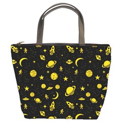 Space Pattern Bucket Bags by ValentinaDesign