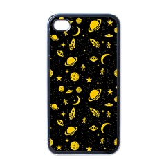 Space Pattern Apple Iphone 4 Case (black) by ValentinaDesign
