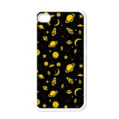 Space Pattern Apple Iphone 4 Case (white) by ValentinaDesign