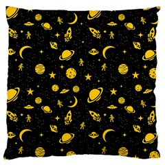 Space Pattern Large Cushion Case (two Sides) by ValentinaDesign