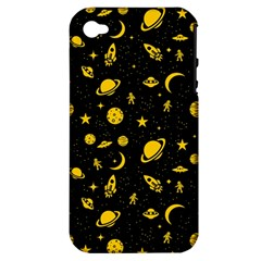 Space Pattern Apple Iphone 4/4s Hardshell Case (pc+silicone) by ValentinaDesign
