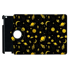 Space Pattern Apple Ipad 2 Flip 360 Case by ValentinaDesign