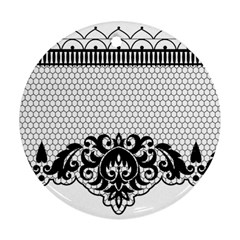 Transparent Lace Decoration Ornament (round)