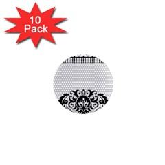Transparent Lace Decoration 1  Mini Magnet (10 Pack)