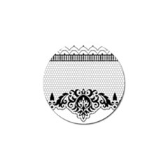 Transparent Lace Decoration Golf Ball Marker