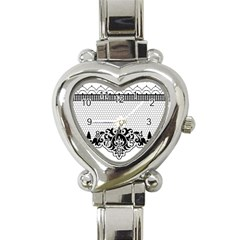 Transparent Lace Decoration Heart Italian Charm Watch by Nexatart