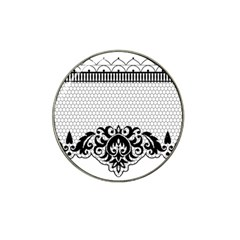 Transparent Lace Decoration Hat Clip Ball Marker (10 Pack) by Nexatart