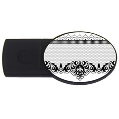 Transparent Lace Decoration Usb Flash Drive Oval (4 Gb) by Nexatart