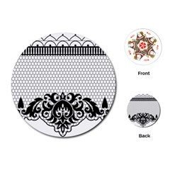Transparent Lace Decoration Playing Cards (round)