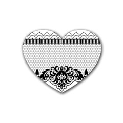 Transparent Lace Decoration Rubber Coaster (heart)  by Nexatart