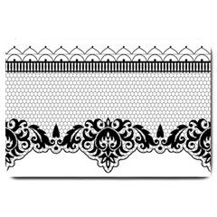Transparent Lace Decoration Large Doormat  by Nexatart