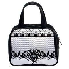 Transparent Lace Decoration Classic Handbags (2 Sides)