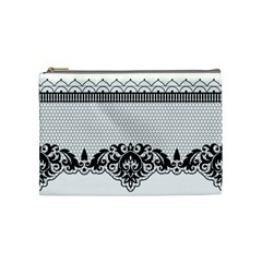 Transparent Lace Decoration Cosmetic Bag (medium)  by Nexatart
