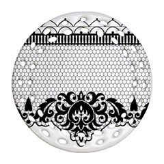 Transparent Lace Decoration Round Filigree Ornament (two Sides) by Nexatart