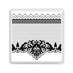 Transparent Lace Decoration Memory Card Reader (square)  by Nexatart
