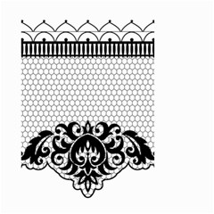 Transparent Lace Decoration Small Garden Flag (two Sides) by Nexatart