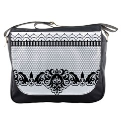 Transparent Lace Decoration Messenger Bags by Nexatart