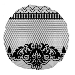 Transparent Lace Decoration Large 18  Premium Round Cushions by Nexatart