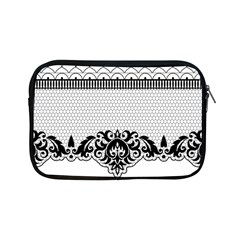 Transparent Lace Decoration Apple Ipad Mini Zipper Cases