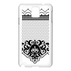 Transparent Lace Decoration Samsung Galaxy Note 3 N9005 Case (white)