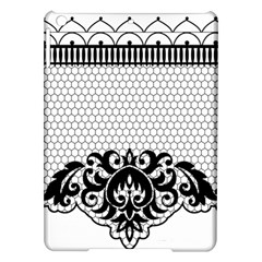 Transparent Lace Decoration Ipad Air Hardshell Cases by Nexatart