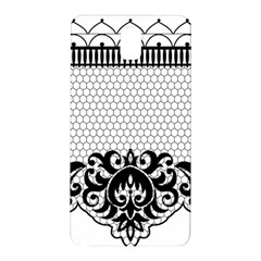 Transparent Lace Decoration Samsung Galaxy Note 3 N9005 Hardshell Back Case