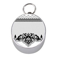 Transparent Lace Decoration Mini Silver Compasses by Nexatart