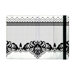 Transparent Lace Decoration Ipad Mini 2 Flip Cases