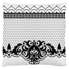 Transparent Lace Decoration Large Flano Cushion Case (two Sides) by Nexatart