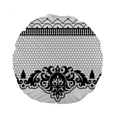 Transparent Lace Decoration Standard 15  Premium Flano Round Cushions by Nexatart