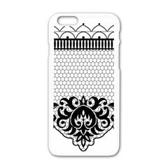 Transparent Lace Decoration Apple Iphone 6/6s White Enamel Case by Nexatart