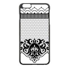 Transparent Lace Decoration Apple Iphone 6 Plus/6s Plus Black Enamel Case
