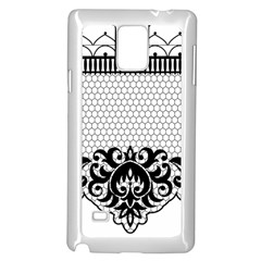 Transparent Lace Decoration Samsung Galaxy Note 4 Case (white)