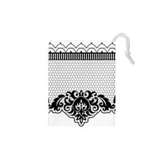 Transparent Lace Decoration Drawstring Pouches (xs)