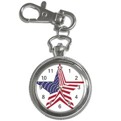 A Star With An American Flag Pattern Key Chain Watches