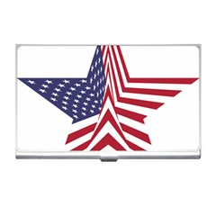 A Star With An American Flag Pattern Business Card Holders by Nexatart