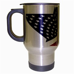 A Star With An American Flag Pattern Travel Mug (silver Gray) by Nexatart