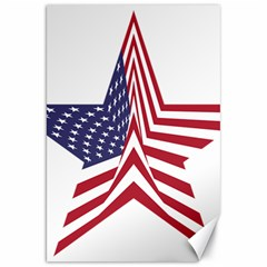 A Star With An American Flag Pattern Canvas 20  X 30   by Nexatart