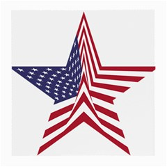 A Star With An American Flag Pattern Medium Glasses Cloth (2 Side) by Nexatart