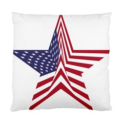 A Star With An American Flag Pattern Standard Cushion Case (two Sides)