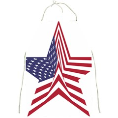 A Star With An American Flag Pattern Full Print Aprons