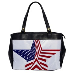 A Star With An American Flag Pattern Office Handbags by Nexatart