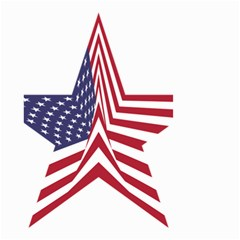 A Star With An American Flag Pattern Small Garden Flag (two Sides) by Nexatart