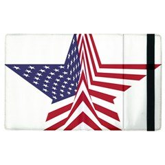 A Star With An American Flag Pattern Apple Ipad 2 Flip Case by Nexatart