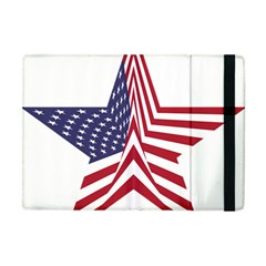 A Star With An American Flag Pattern Apple Ipad Mini Flip Case