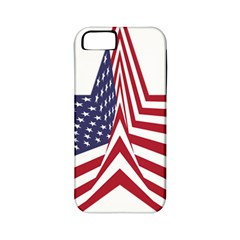 A Star With An American Flag Pattern Apple Iphone 5 Classic Hardshell Case (pc+silicone) by Nexatart