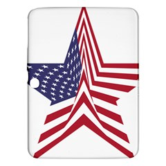 A Star With An American Flag Pattern Samsung Galaxy Tab 3 (10 1 ) P5200 Hardshell Case  by Nexatart