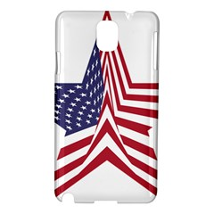 A Star With An American Flag Pattern Samsung Galaxy Note 3 N9005 Hardshell Case